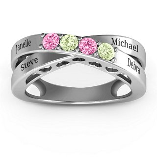 Across My Heart 4-Stone Ring