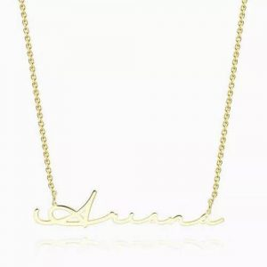 Signature Style Name Necklace 14K Gold Plated